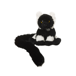 Opica z dolgim repom lemur črno-bel