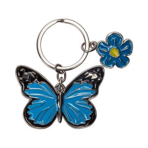 Kovinski obesek za ključe metulj